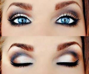 eyeshadow, smokey eye, and smokey image