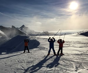 cold, january, and ski image