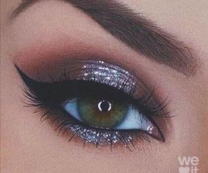 eyes, makeup, and makeup artist image