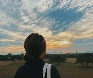 sky and girl image