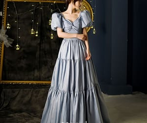 a-line, backless, and ruffle image