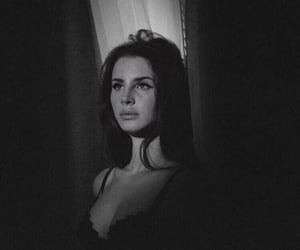 lana del rey, black and white, and aesthetic image