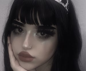 goth, goth girl, and emo girl image