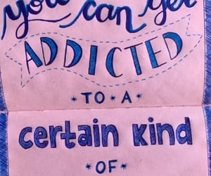 addicted, lettering, and three days grace image