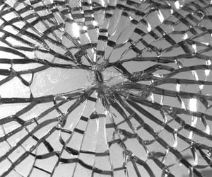 glass, mirror, and broken image