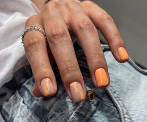 orange, nails art, and nails design image