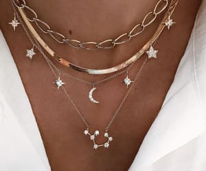 jewelry, neckless, and white image