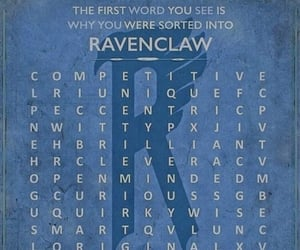 crossword, quirky, and ravenclaw image