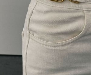 fashion, pants, and white jeans image