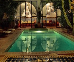 pool, morocco, and house image