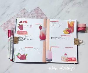 boba tea, strawberry, and bujo image