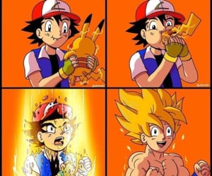 anime, dragonball z, and funny image