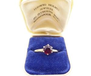 etsy, garnet, and antique ring image