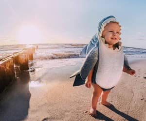 baby, shark, and beach image