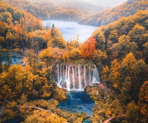 autumn, fall, and plitvice image