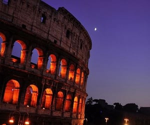 rome, night, and italy image