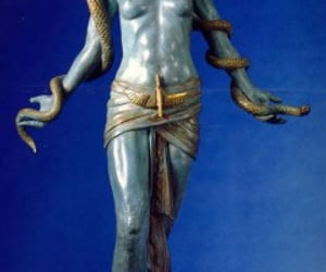 ancient egyptian, blue, and statue image