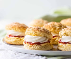 afternoon tea, food, and scone image