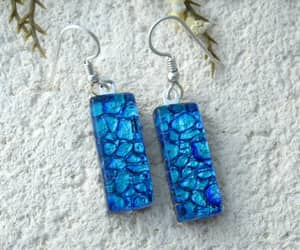 blue, glass, and earrings image