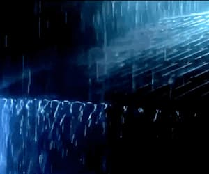 blue, rain, and gif image