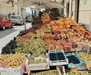 fruit, farmers market, and food image