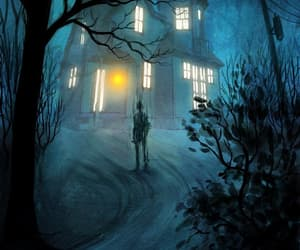 blue, creepy, and spooky image