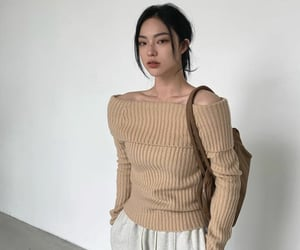 beautiful, creme, and fashion image