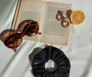 accessories, book, and hair image