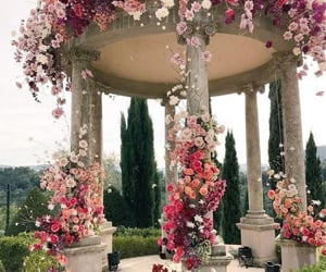 flowers, venue, and wedding image