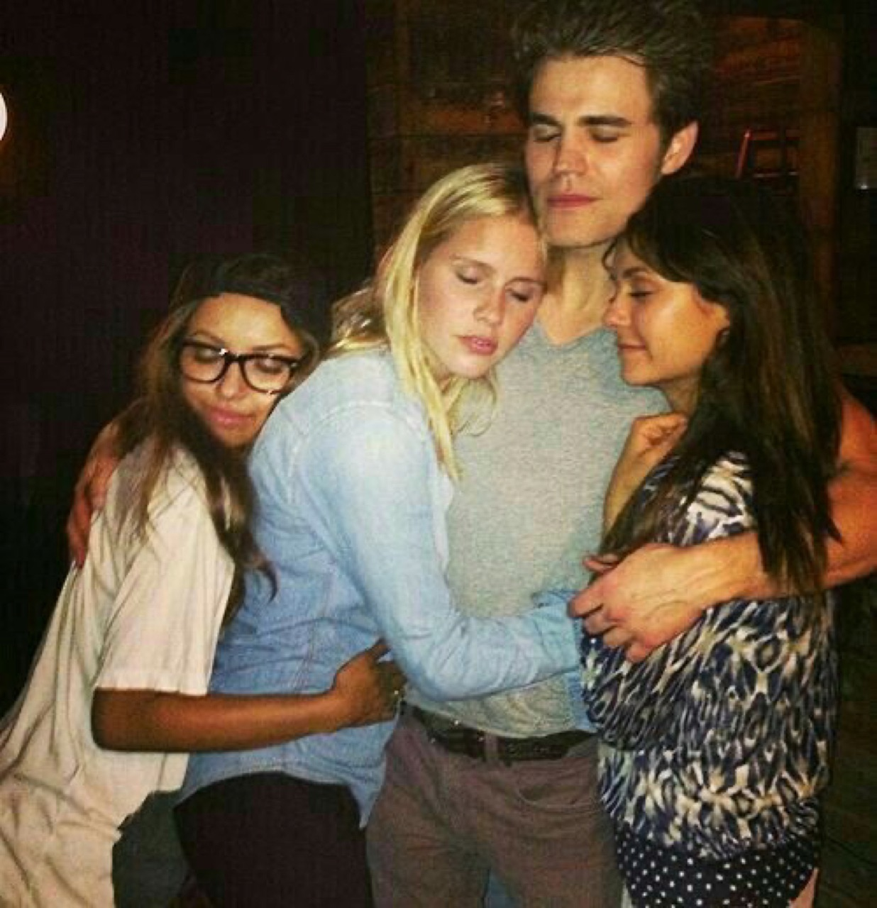 paul wesley, Nina Dobrev, and claire holt image
