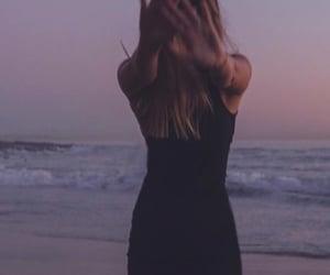 beach, black, and blonde image
