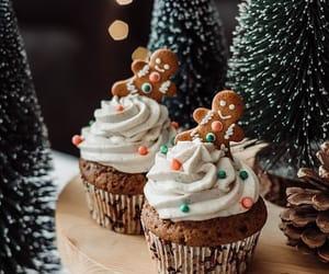 cupcake, cake, and christmas image