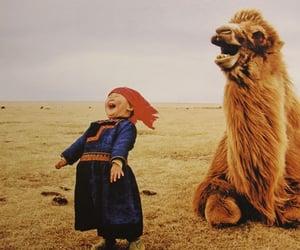 girl, camel, and mongol image