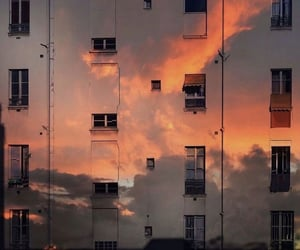 aesthetic, clouds, and sunset image