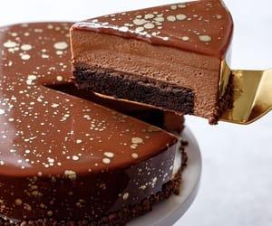 cake, chocolat, and chocolate cake image