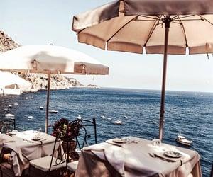 beach, food, and sea image
