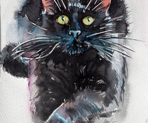 art, cats, and paintings image