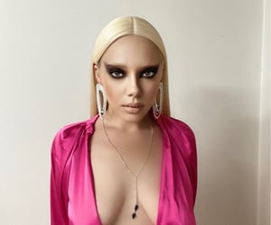 bleached, diamonds, and eyebrows image