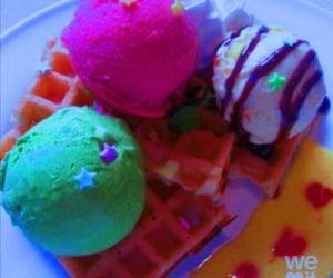 colors, cream, and ice cream image