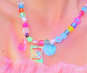 color, necklaces, and colorful image