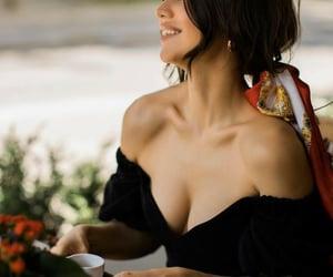 beautiful woman, stylé, and black image