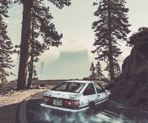 anime, initial d, and toyota ae86 image