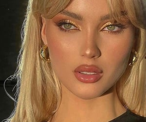 style, blonde, and makeup image