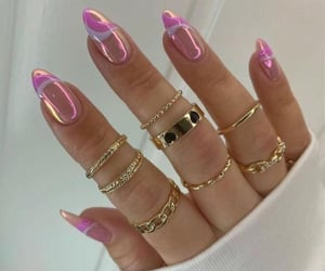 aesthetic, gold, and nail art image