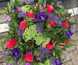 lillies, roses, and campanula image