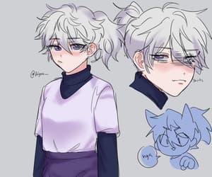 anime, killua, and anime girl image