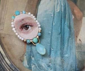 etsy, eye, and textile art brooch image