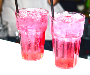 drinks, girly, and pink image