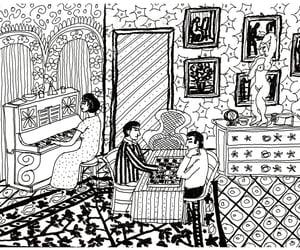 artista, illustration, and ilustracao image