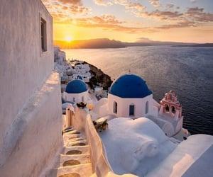 holidays, santorini, and travel image